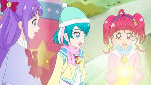 STPC46 Madoka, Lala and Hikaru look at the Twinkle Book