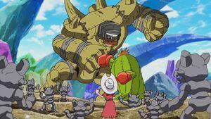 Togemon vs Golemon