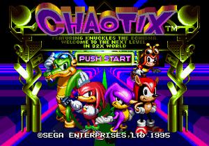 Chaotix title 7261