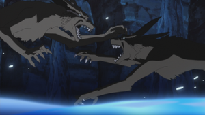 Black Kurama vs Kurama