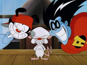 Freakazoid with Wakko and Brain