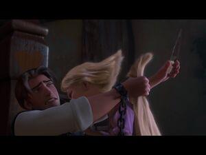 Rapunzel hair cut