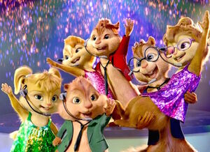 The Chipmunks & Chipettes smiling proudly