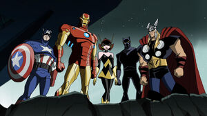 Iron Man, Captain America, Panther, Wasp and Thor (EMH)