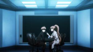 Yukizome treated Naegi's wound