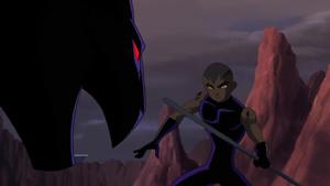 Azari faces wild cat mode Iron Black Panther (NAHT)