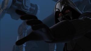 Darth Vader shoves