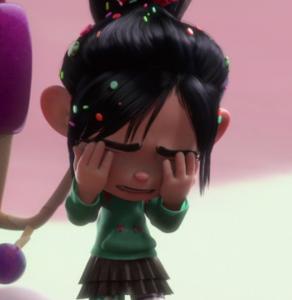 Vanellope crying