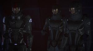 Shepard, Kaidan and Jenkins