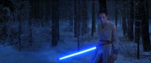Rey beats Kylo Force Awakens