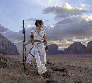 Rey in the Rey of Skywalker