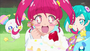 STPC04 Hikaru amazed by the appearance of the cake