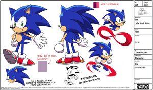 Sonic Model Sheet