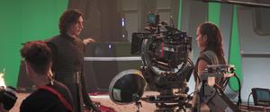 TLJ Kylo and Rey - behind the scenes