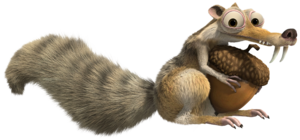 Ice Age Scrat Squirrel Transparent PNG Clip Art Image