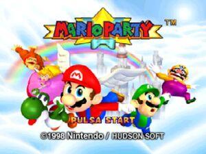 Mario party 64 tittle screen 2