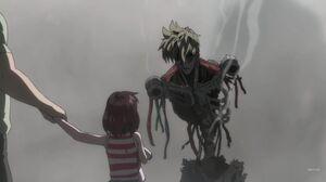 One-Punch-Man-S1E9-Genos-Skeleton-and-Girl-e1474350711761