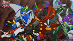 Five Fusion Bakugan in Maze