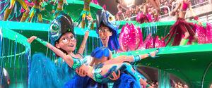 Linda & Tulio In Their Carnival Costumes