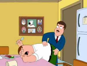 Peter Griffin getting spanked