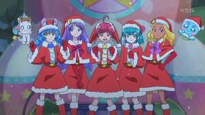 STPC44 The girls in their Santa outfits