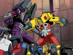 Hot Shot, Megatron and Mini-Cons.