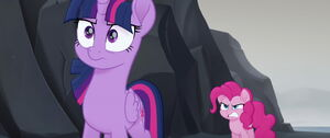 Pinkie Pie yells and accuses Twilight