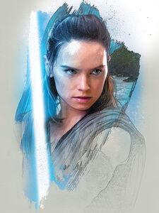 Rey - TLJ promo character art
