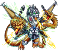ZGodzilla X Monster Strike - Mecha-King Ghidorah