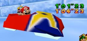 Mario party 64 mario and wario in the sled