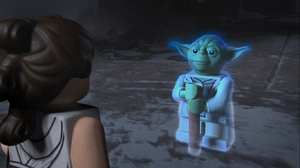 Rey and Yoda - The LEGO Star Wars Holiday Special
