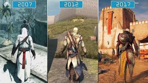 All Assassin's Creed Games (2007- 2017) Graphics Evolution HD-3