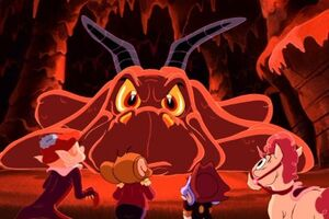 Paulie, Jerry, Tuffy and Nelly in the Dragon's lair