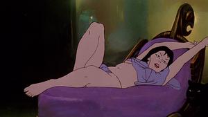 Teegra relaxing in her room