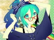 Glasses cutie miku wallpaper by mitche27-d4qz8kh