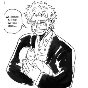 Hisashi-Midoriya-holding-deku-as-a-baby