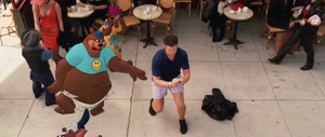 Looney Tunes Back In Action - The Three Bears entertained by DJ Drake (Brendan Fraser) standing in his boxers in the street