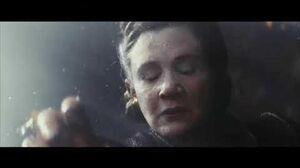Leia Organa flies in space
