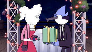 S5E37 130 Mordecai and CJ About to Kiss