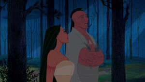 Pocahontas with her father