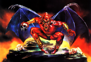 Demon's Crest - Fireband as seen in the North American & European cover art by Julie Bell