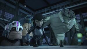 Karai Explains To Mutanimals The Positions Of Shredder's Forces