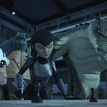Karai Explains To Mutanimals The Positions Of Shredder's Forces.jpg