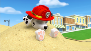 Paw patrol marshall dune of sand by lah2000 dcvze3q