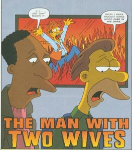 Carl and lenny man with two wives comic