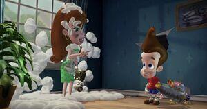Jimmy Neutron punished by Judy