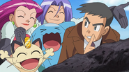 Looker with Team Rocket.