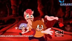 Nelly, headless Paulie, Jerry and Tuffy in the Dragon's Lair