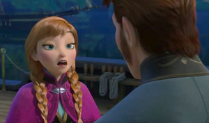 Anna facing Prince Hans