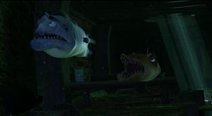 Bart & Eddie follow Pi & Dylan in the shipwreck